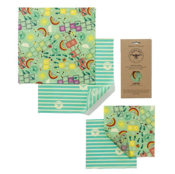 The Beeswax Wrap Co Beeswax Wraps Children's Lunch Pack
