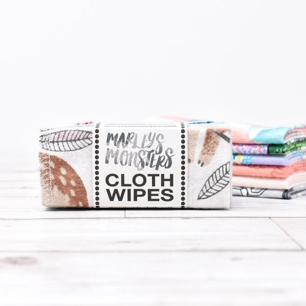 Marley's Monsters reusable mixed print cloth wipes