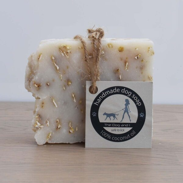 The Dog And I Coconut Oil Dog Shampoo Bar Unscented With Labelling