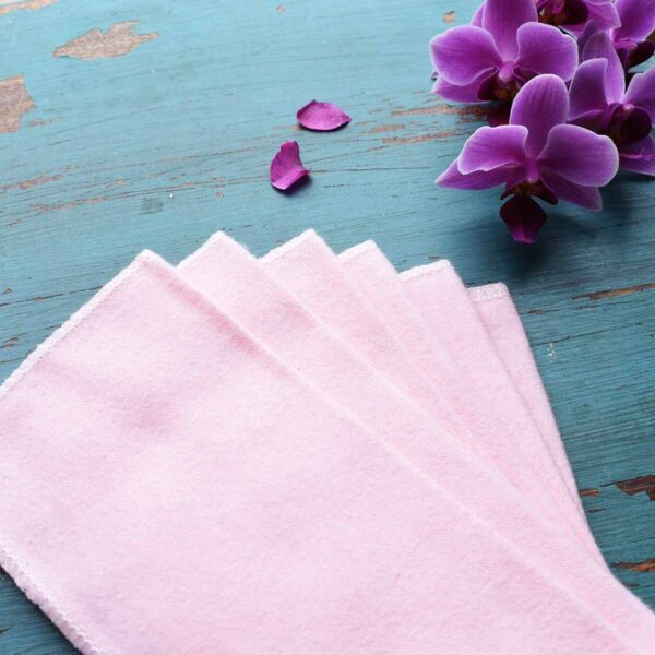 Vesta Living Pink Reusable Baby Wipes