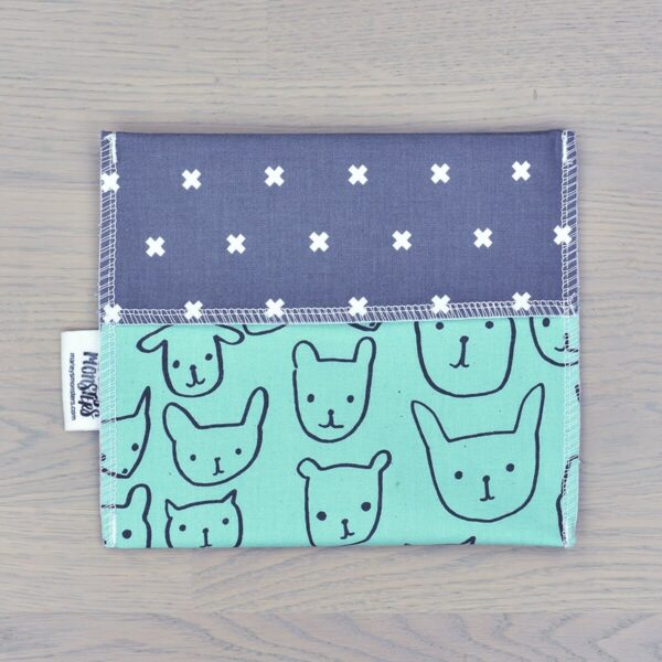 Marley's Monsters Reusable Cotton Sandwich Bag With Bear Print