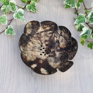 Curved Leaf Coconut Shell Soap Dish