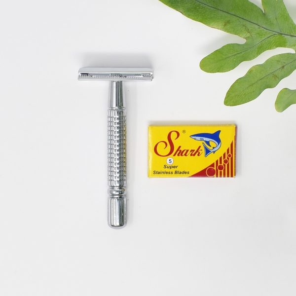 Mutiny Silver Double Edge Safety Razor With Blades