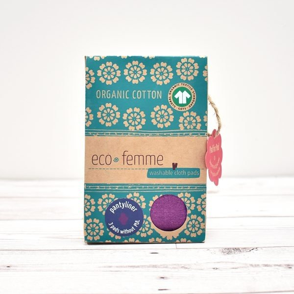 Eco-Femme Cotton Panty Liners Vibrant Stripe 3 Pack Box