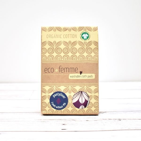 Eco-Femme Organic Cotton Panty Liners , Swirls 3 Pack box,