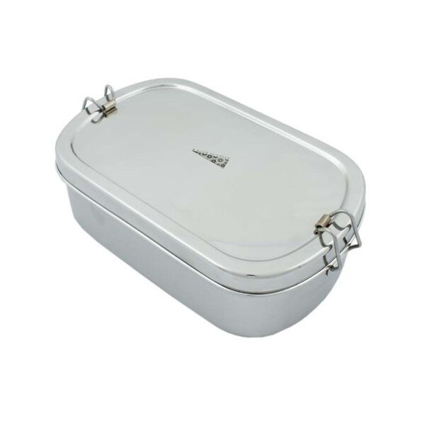 A Slice of Green Extra Large Stainless Steel Oval Lunch Box