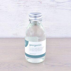 Georganics Oil Pulling Mouthwash, dental care, dental hygiene, vegan friendly, mouth wash, spearmint,
