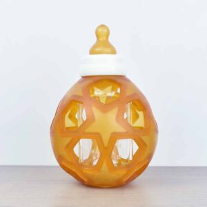 Hevea 2-in-1 Glass Baby Bottle with Removable Star Ball