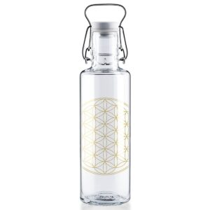 Soul Flower Of Life Glass Water Bottle