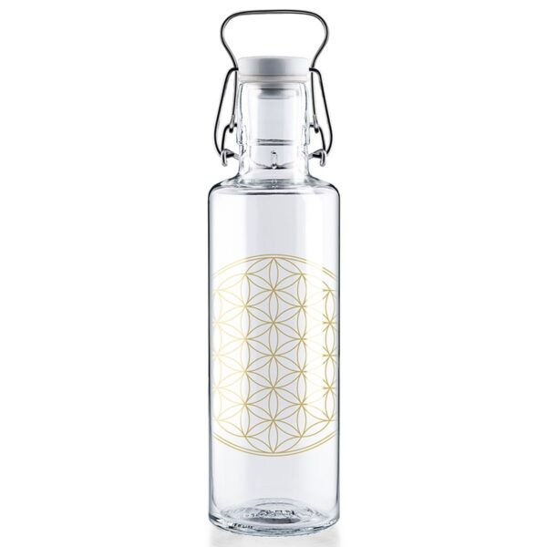Soul Flower Of Life Glass Water Bottle