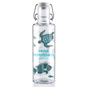 Soul Drink Responsibly Glass Water Bottle