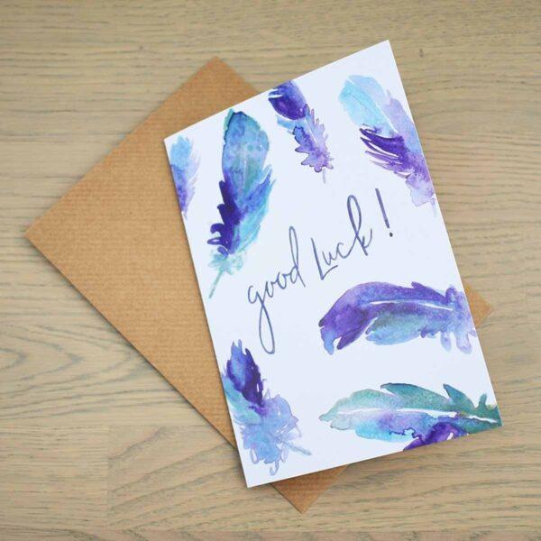 Stefanie Lau Eco-friendly Greetings Card Good Luck With Envelope