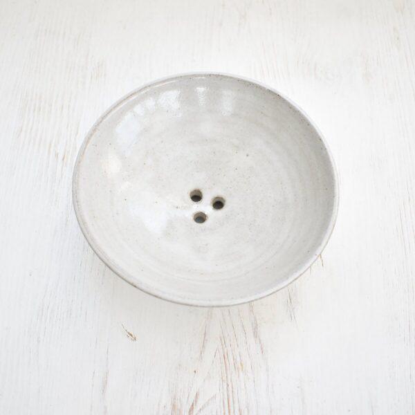 Clod and Pebble Grey Ceramic Soap Dish
