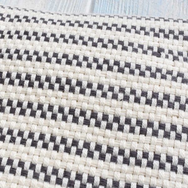 Ebb Flow Cornwall Grey Turkish Towel Chunky Hendra Weave Close Up