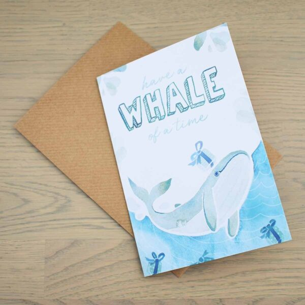 Stefanie Lau Eco-friendly Greetings Card Have A Whale Of A Time With Envelope