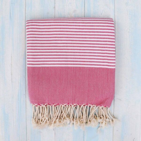 Ebb Flow Cornwall Pink Turkish Towel Quick Dry Hammam Towel