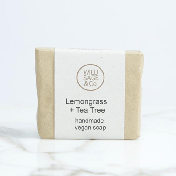 wild sage & co lemongrass and tea tree Soap Bar packaging