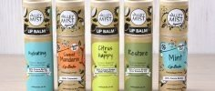 Selection of Valley Mist lip balms in different flavours
