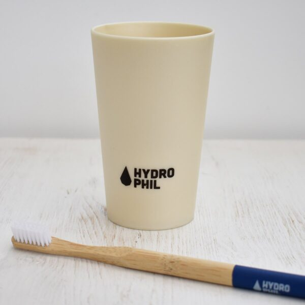 Hydrophil Liquid Wood Toothbrush Mug With Wooden Toothbrush