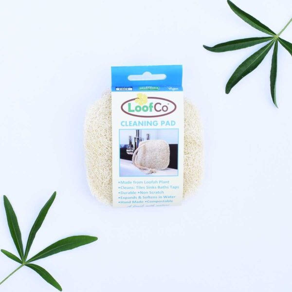 LoofCo, Loofah Cleaning Pad, loofah, natural, vegan-friendly, plastic-free, bio-degradable, household cleaning, Egyptian cotton,