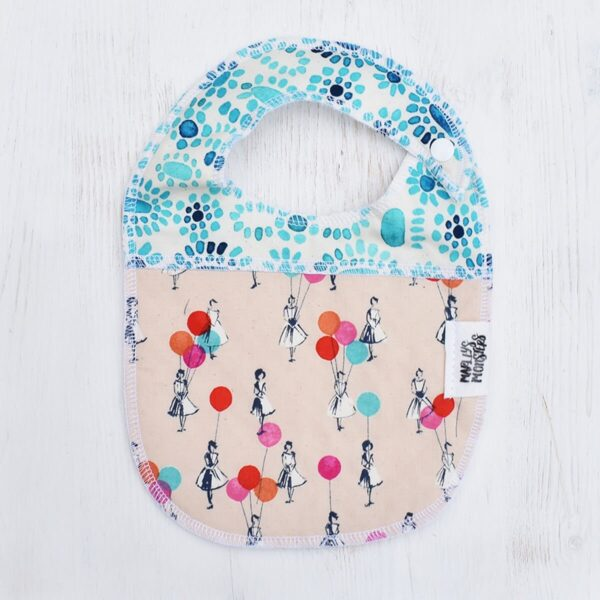 Marley's Monsters Baby Bib With Balloons