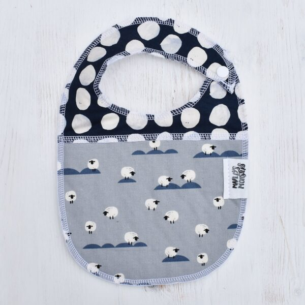 Marley's Monsters Baby Bib With Sheep Print