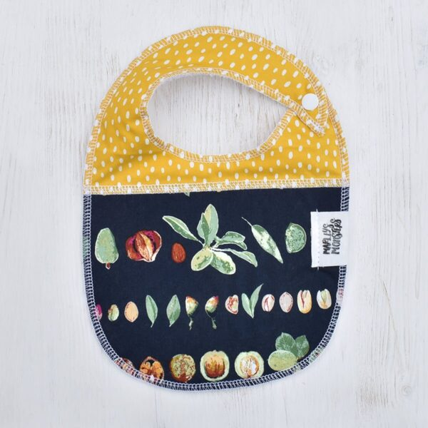 Marley's Monsters Baby Bib With Vegetable Print