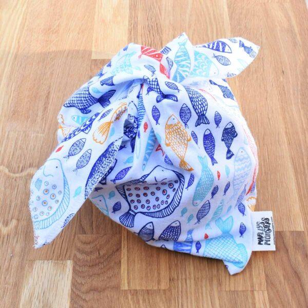 Marleys Monsters Medium Sized Bento Bag With Fish Print
