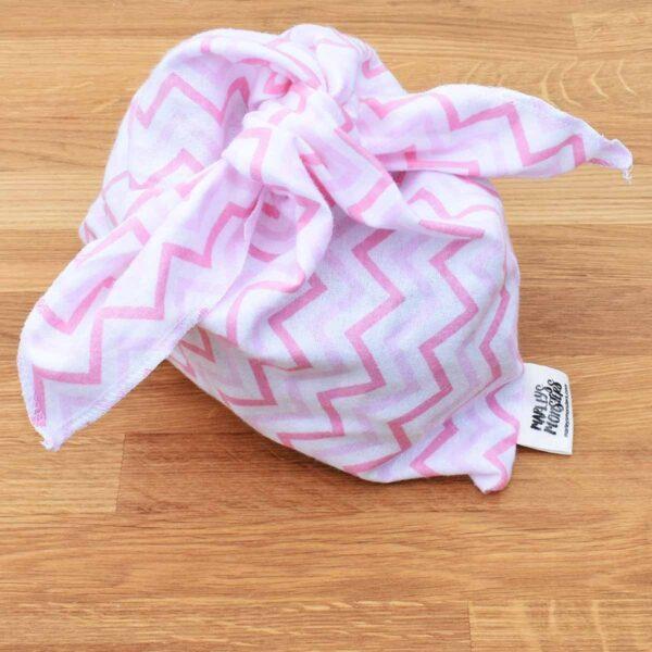 Marleys Monsters Pink Zig Zag Pattern Medium Sized Bento Bag