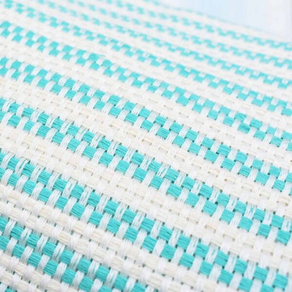 Ebb Flow Cornwall Mint Green Turkish Towel Chunky Hendra Weave Close Up