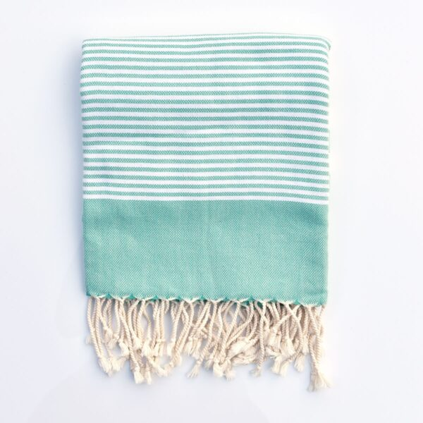 Ebb Flow Cornwall Mint Green Turkish Towel Quick Dry Chappie Hammam Towel
