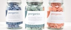 Georganics mouthwash tablets different flavours