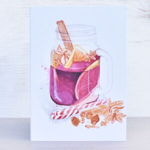 Stefanie Lau Eco-friendly Christmas Card Mulled Wine