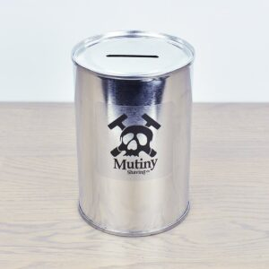 Mutiny Tin Razor Blade Bank