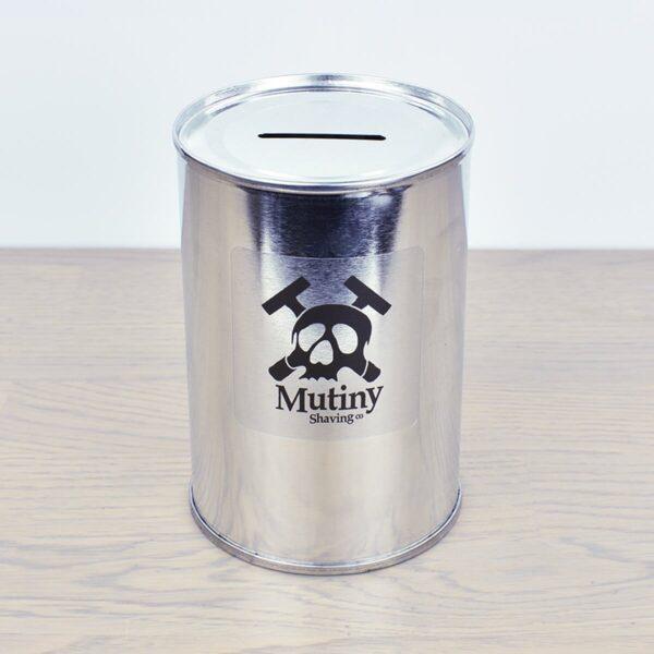 Mutiny Tin Razor Blade Bank