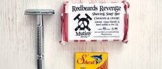Safety razor, shark safety blades and mutiny shaving soap set