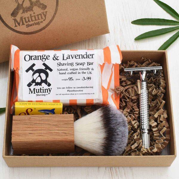 Mutiny Safety Razor Kit , Orange & Lavender
