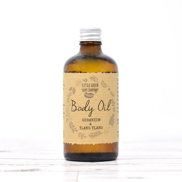 Little Green Soap Co Geranium & Ylang Ylang Body Oil