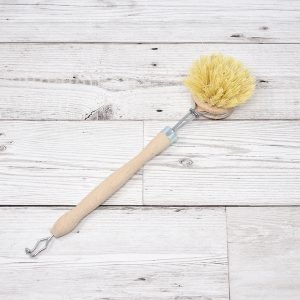 Eco Living Natural Bristle Wooden Dish Brush