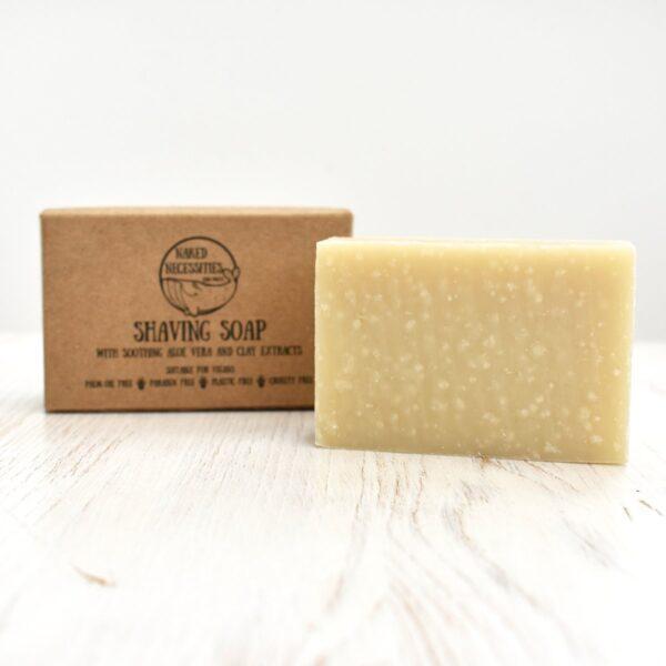 Naked Necessities Aloe Vera Shaving Soap Bar packaging