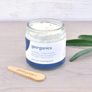Georganics Toothpaste , dental care, dental hygiene, vegan friendly, toothpaste, Fluoride free, natural toothpaste, peppermint,