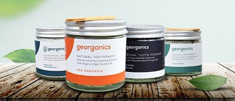 Georganics organic toothpaste selection of flavours