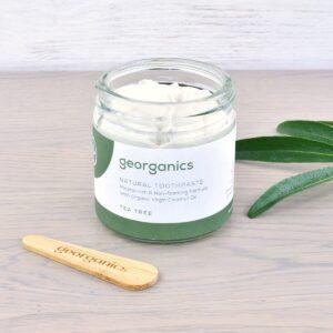 Georganics Toothpaste , dental care, dental hygiene, vegan friendly, toothpaste, Fluoride free, natural toothpaste, tea tree,