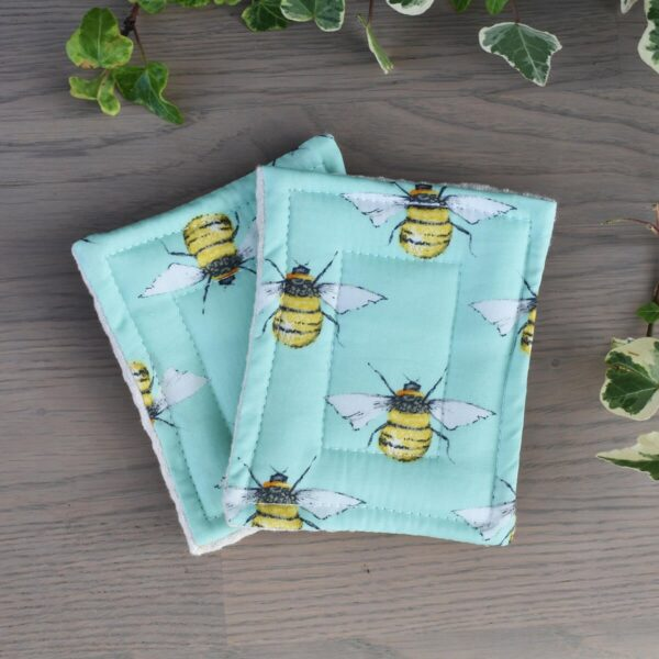 Tabitha Eve, None Sponge, set of 2, dish sponge, sponges, natural, plastic-free, bio-degradable,reusable, bees, bee pattern, bee print,