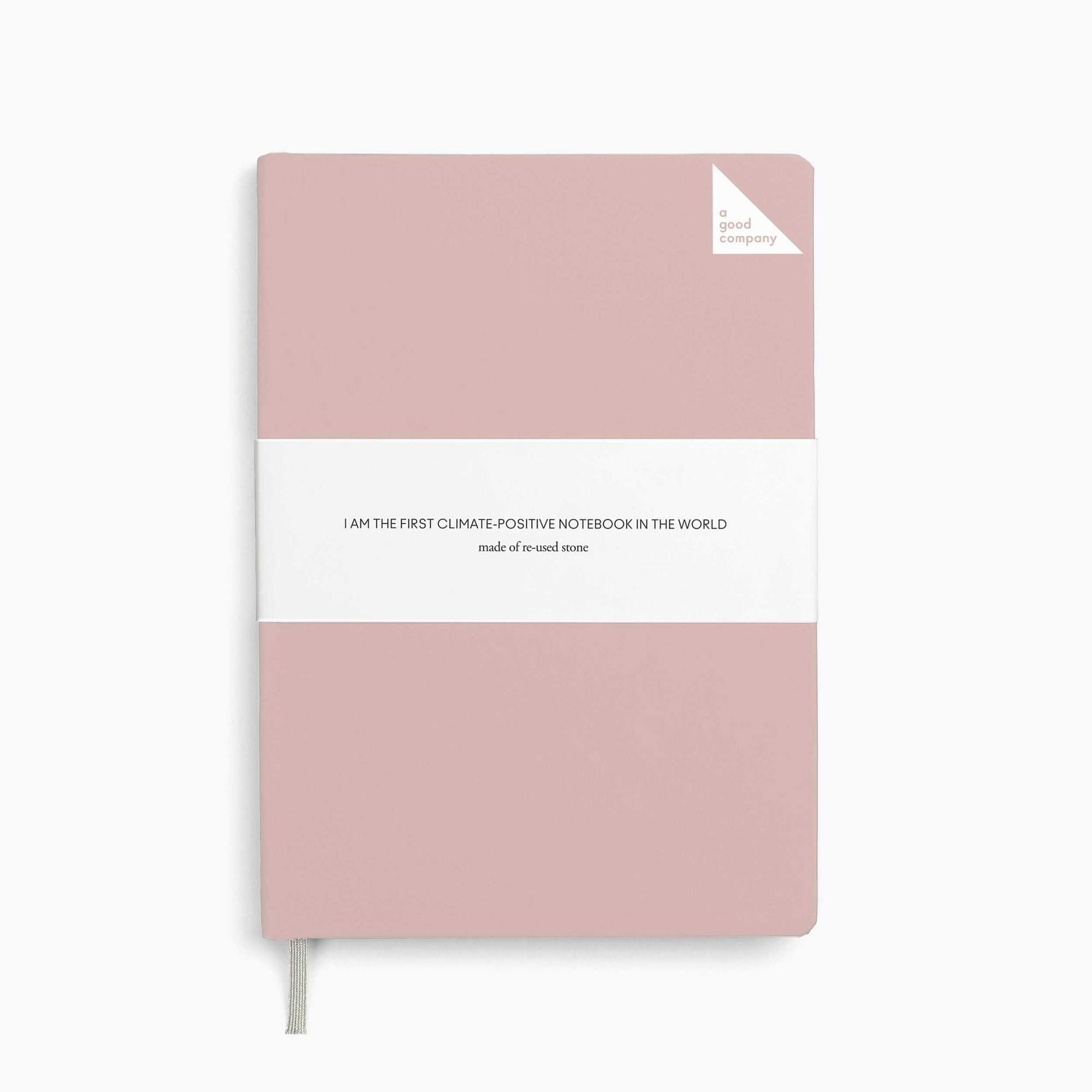 notebook dusty pink a5 agoodcompany