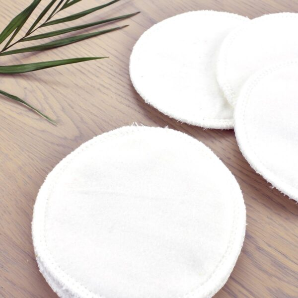 Close Up of Marley's Monsters Cotton Nursing Pads in White