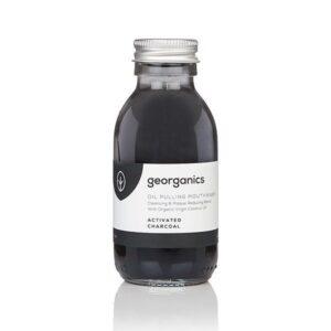 Georganics Oil Pulling Mouthwash, dental care, dental hygiene, vegan friendly, mouth wash, charcoal,