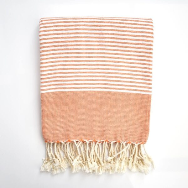 Ebb Flow Cornwall Orange Turkish Towel Quick Dry Chappie Hammam Towel