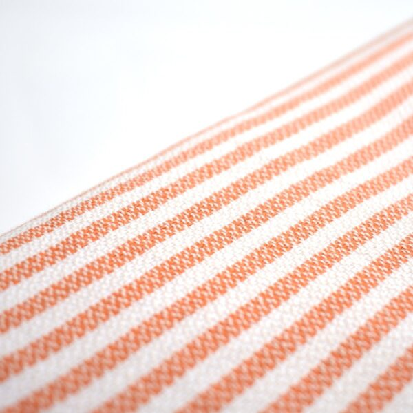 Ebb Flow Cornwall Orange Turkish Towel Quick Dry Chappie Hammam Towel Close Up