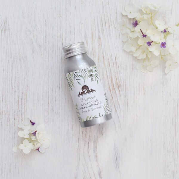 Peace With The Wild Organic Cleansing Makeup Melt Bottle With Flowers